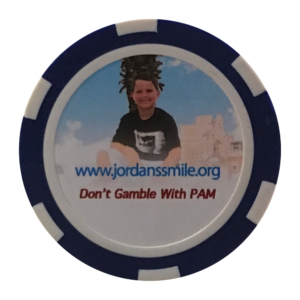 Find a chip. Leave a chip. #DontGambleWithPAM